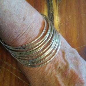 New Sundance C 10 Sterling Silver Bangle Bracelets